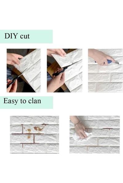 Renkli Duvarlar Sök Yapıştır Sünger Esnek Duvar Kaplama Paneli (1 Adet)