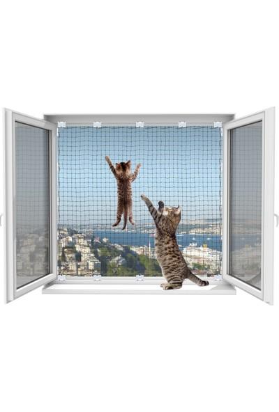 Winblock Pets Evcil Hayvan Güvenlik Ağı 2 Pencerelik Ekonomik Kutu