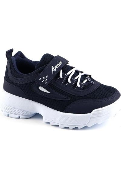 Armix Lacivert Günlük Fileli Yürüyüş Erkek Çocuk Spor Ayakkabı