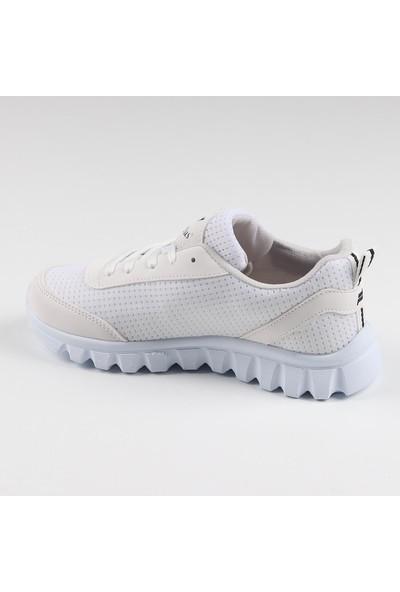 New Plus Beyaz Rahat Ultra Hafif Erkek Çocuk Spor Ayakkabı