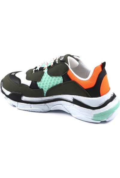 Jamper Haki Günlük Yürüyüş Kadın Spor Ayakkabı