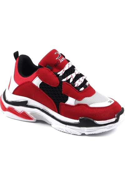 Jamper Kırmızı Günlük Yürüyüş Kadın Spor Ayakkabı