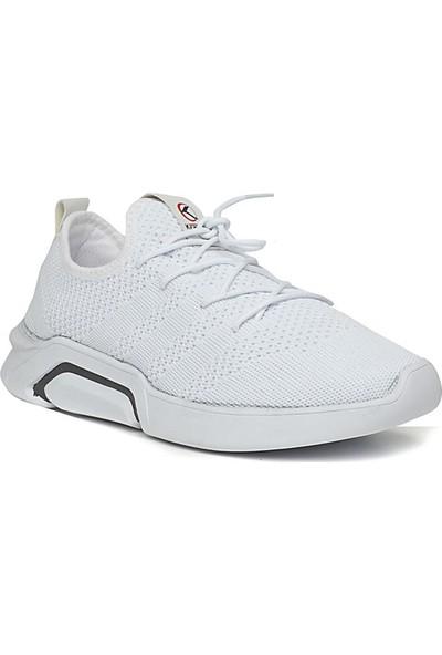 Keeway Beyaz Faylon Triko Erkek Spor Ayakkabı
