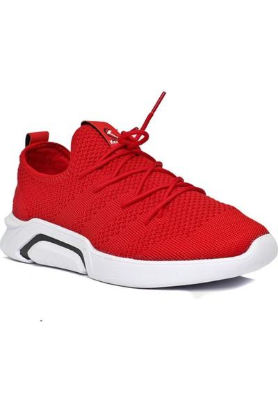 Keeway Kırmızı Faylon Triko Erkek Spor Ayakkabı