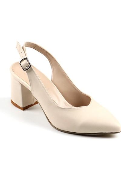 Föz Bej Arkası Açık Kadın Topuklu Ayakkabı