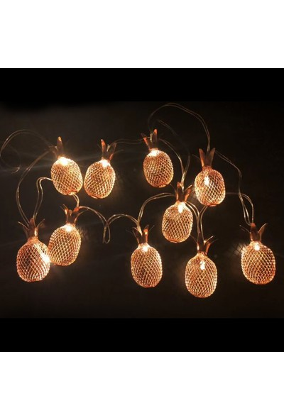 Urban Mood Dekoratif Ananas 10'lu LED Işık Zinciri - 1.5 mt