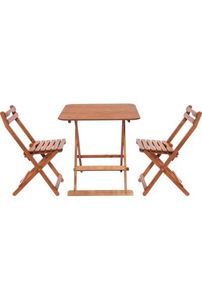 Modermo (108) Masa(70*70)Cm (1 Adet) + (110) Sandalye (2 Adet)