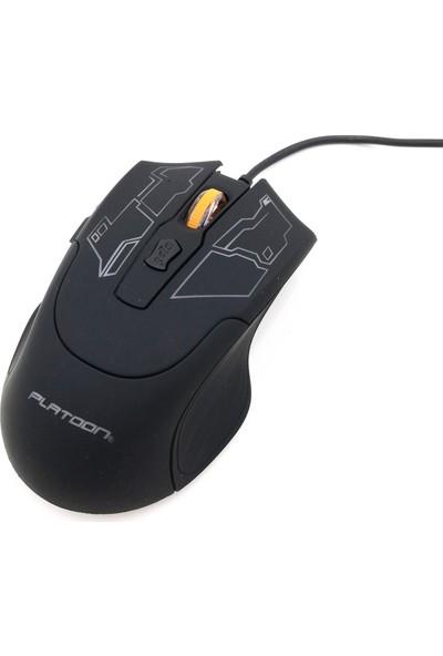 Platoon PL-1555 Optik Kablolu Oyuncu Mouse