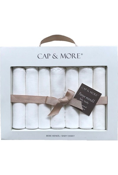 Cap&more Bebek Müslin Ağız Mendili Seti (7 Li Paket), Kaliteli Unisex Erkek Veya Kız, Yumuşak ve Ekstra EMICI%100 Pamuklu