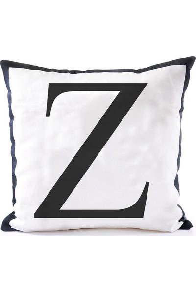 The Company Z Harf Kırlent Kılıfı
