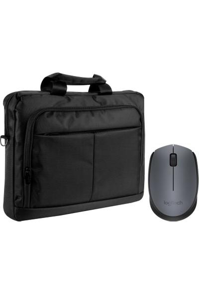 Logitech M171 Siyah Kablosuz Mouse + Notebook Çanta Kiti