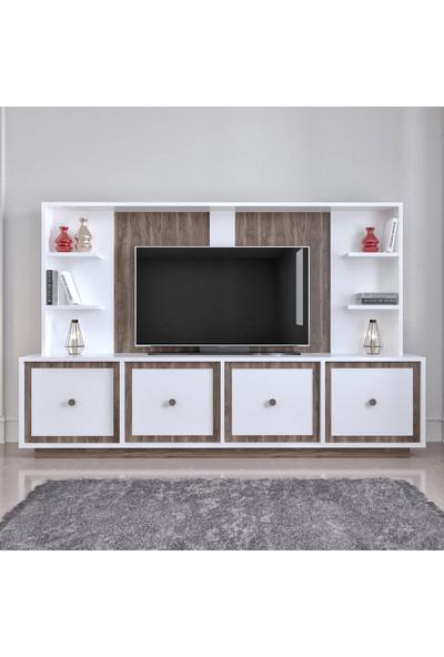 Modatte Mobi̇lya Soft Tv Üni̇tesi̇ Duvar Rafi Ki̇taplik