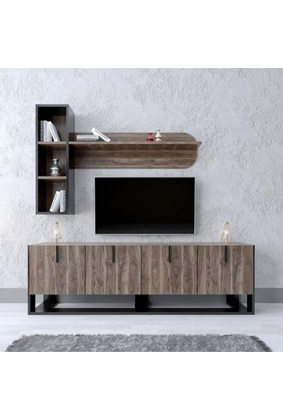 Modatte Mobi̇lya Roma Tv Üni̇tesi̇ Duvar Rafi Ki̇taplik