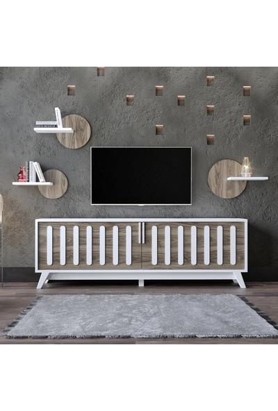 Modatte Mobi̇lya Wand Tv Üni̇tesi̇ Duvar Rafi Ki̇taplik