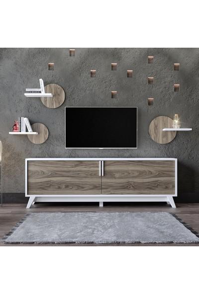 Modatte Mobi̇lya Pure Tv Üni̇tesi̇ Duvar Rafi Ki̇taplik