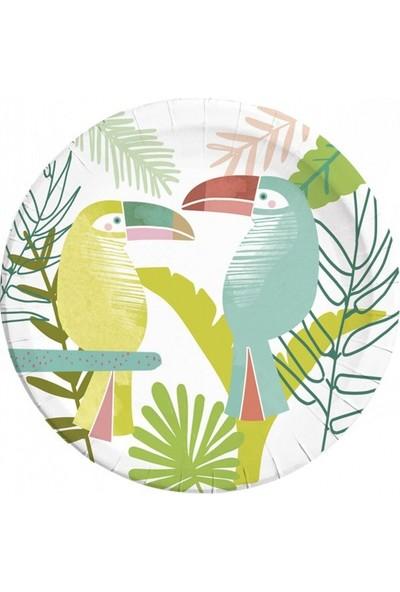 Party Shop Tropikal Parti Tukan Kuşu Temalı Tabak