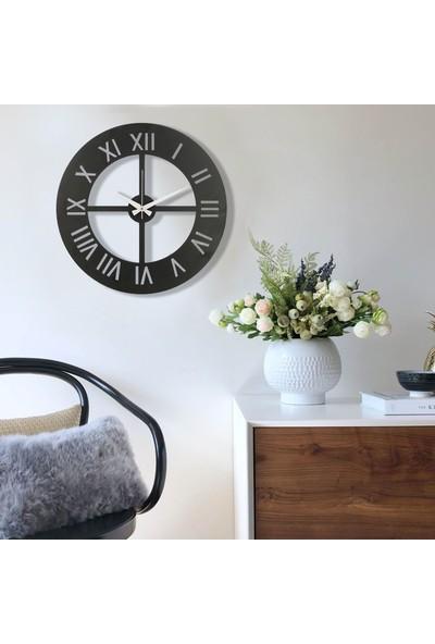 Muyi̇ka Nullo Metal Siyah Duvar Saati 50 x 50 cm