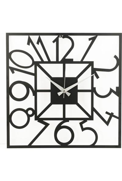 Muyi̇ka Piazza Metal Siyah Duvar Saati 50 x 50 cm