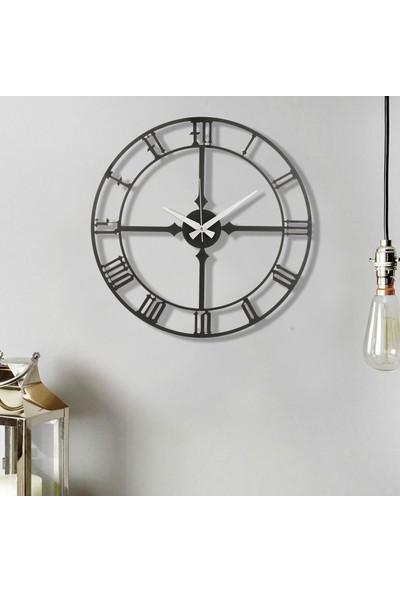Muyi̇ka Stile Metal Siyah Duvar Saati 50 x 50 cm