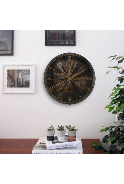 Muyi̇ka Oscurita Antica Oval Ön Kısım Eskitme 36 cm Duvar Saati