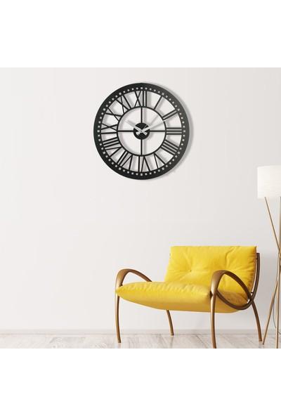 Muyi̇ka Piru Metal Siyah Duvar Saati 50 x 50 cm
