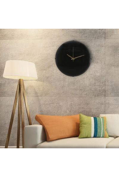 Muyi̇ka Nero Elegante Oval Ön Kısım Siyah 36 cm Duvar Saati
