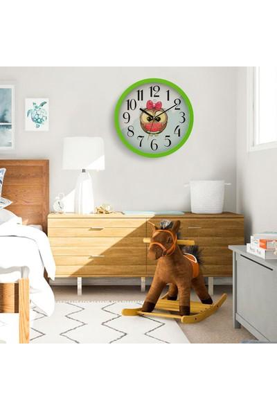 Muyi̇ka Gufolle Yeşil Çerçeveli Çocuk Odası Duvar Saati 30 cm
