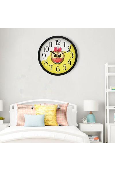 Muyi̇ka Bianco Siyah Çerçeveli Çocuk Odası Duvar Saati 30 cm