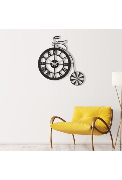 Muyi̇ka Bicic Metal Siyah Duvar Saati 50 x 50 cm