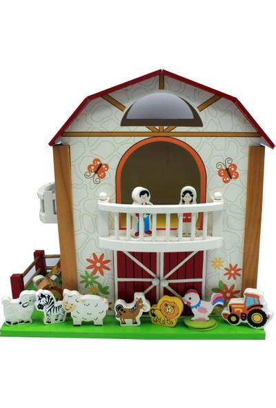 Onyıl Hediyelik Kutuda Ahşap Sevimli Çiftlik Evi