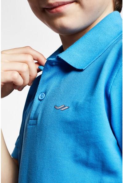Lescon 19S-3251-19B Mavi Çocuk Kısa Kollu Polo Yaka T-Shirt
