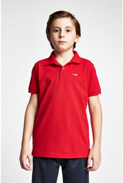 Lescon 19S-3251-19B Kırmızı Çocuk Kısa Kollu Polo Yaka T-Shirt