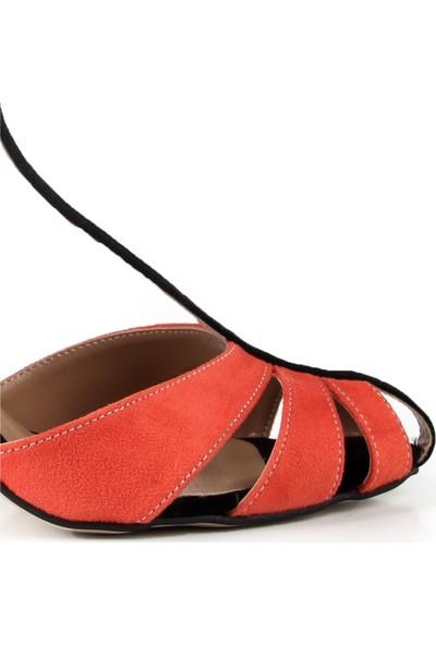 Gökhan Talay Princess Turuncu Topuklu Ayakkabı