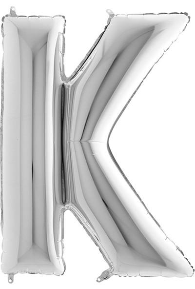 Tatlı Günler Folyo Balon Harf K Gümüş 32 INC70 cm