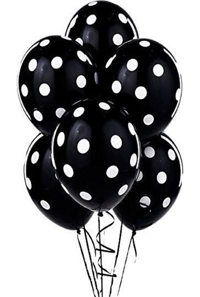 Tatlı Günler Metali̇k Si̇yah Balon 10 lu
