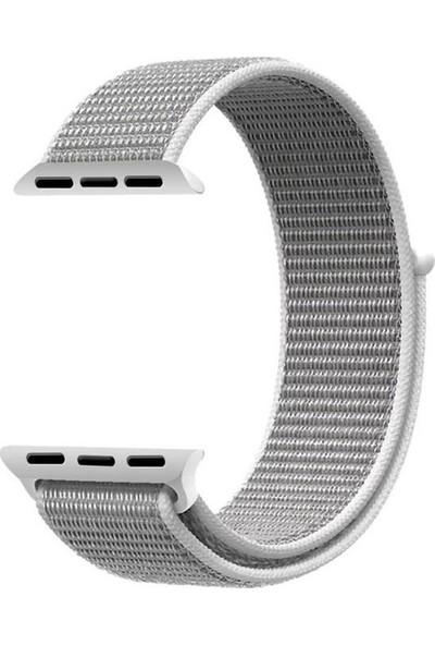 Schulzz Apple Watch Seri 2 3 4 - 42-44 mm Spor Loop Dokuma Kordon -Gri