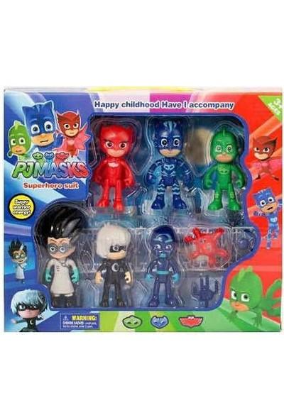 Pijamaskeliler Pjmasks Figür Oyuncakları 10 Lu Set Pijamasks Figur