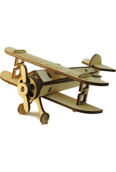 Mekafen Eğitim Mekafen Akademi Ahşap 25 Parça Cessna Uçak 3D Maket Seti