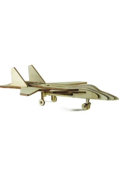 Mekafen Eğitim Mekafen Akademi Ahşap 61 Parça Fighter Savaş Uçağı 3D Maket Seti