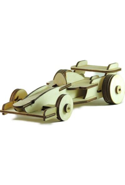 Mekafen Eğitim Mekafen Akademi Ahşap 30 Parça Formula 1 3D Maket Seti