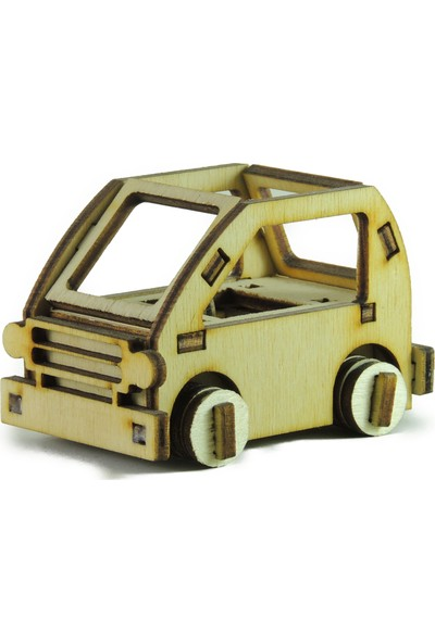 Mekafen Eğitim Mekafen Akademi Ahşap 28 Parça Mini Araba 3D Maket Seti