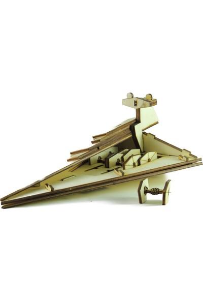 Mekafen Eğitim Mekafen Akademi Ahşap 75 Parça Star Wars Star Destroyer 3D Maket Seti