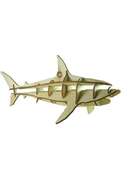 Mekafen Eğitim Mekafen Akademi Ahşap 13 Parça Köpekbalığı 3D Maket Seti