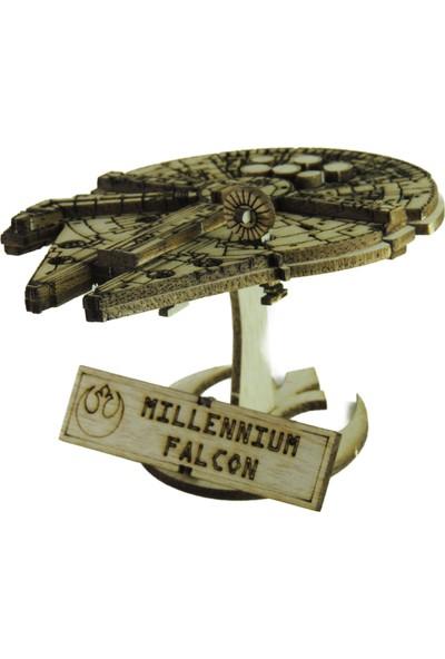 Mekafen Eğitim Mekafen Akademi Ahşap 22 Parça Star Wars Millennium Falcon 3D Maket