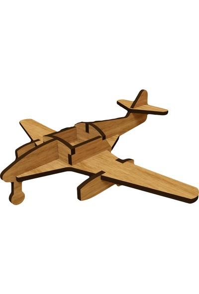 Mekafen Eğitim Mekafen Akademi Ahşap 12 Parça Me262 Uçak 3D Maket Seti