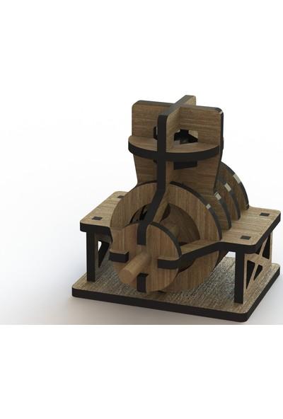 Mekafen Eğitim Mekafen Akademi Ahşap 24 Parça Hareketli Mini Motor 3D Ahşap Maket Seti