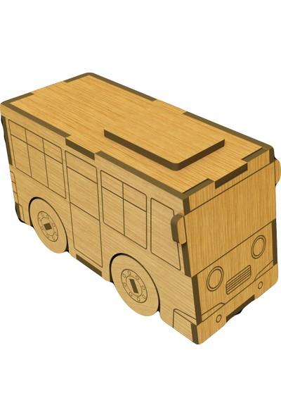 Mekafen Eğitim Mekafen Akademi Ahşap 22 Parça Otobüs 3D Maket Seti