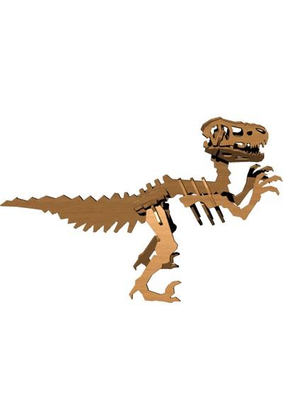 Mekafen Eğitim Mekafen Akademi Ahşap 22 Parça T-Rex 3D Maket Seti
