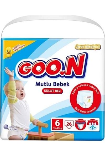 Goon Külot Bez Mutlu Bebek 6 Beden Jumbo Paket 26 Adet 15-25 kg 3'Lü Set