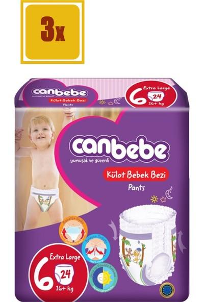 Canbebe Pants Külot Bebek Bezi Extra Large No:6 16+kg 24 Adet